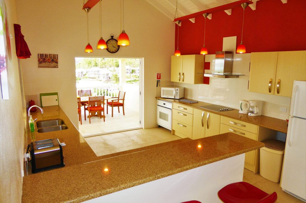 Comprehensively equipped kitchen